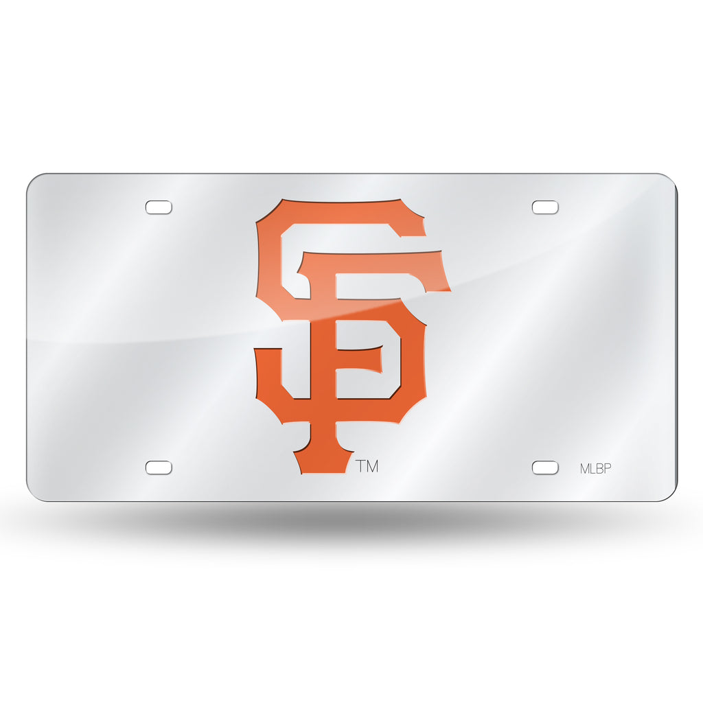 Rico MLB San Francisco Giants Laser Cut Mirror Auto Tag Car License Plate LZS