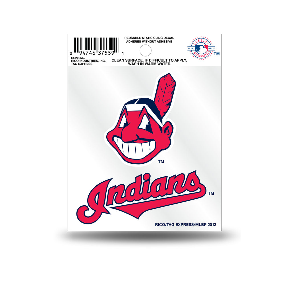 Rico MLB Cleveland Indians Logo Static Cling Auto Decal Car Sticker Small SS