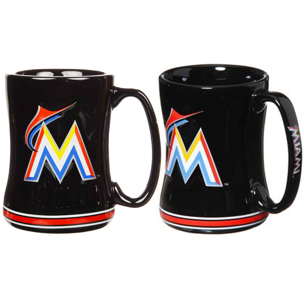 Boelter MLB Miami Marlins Sculpted Relief Mug Team Color 14oz