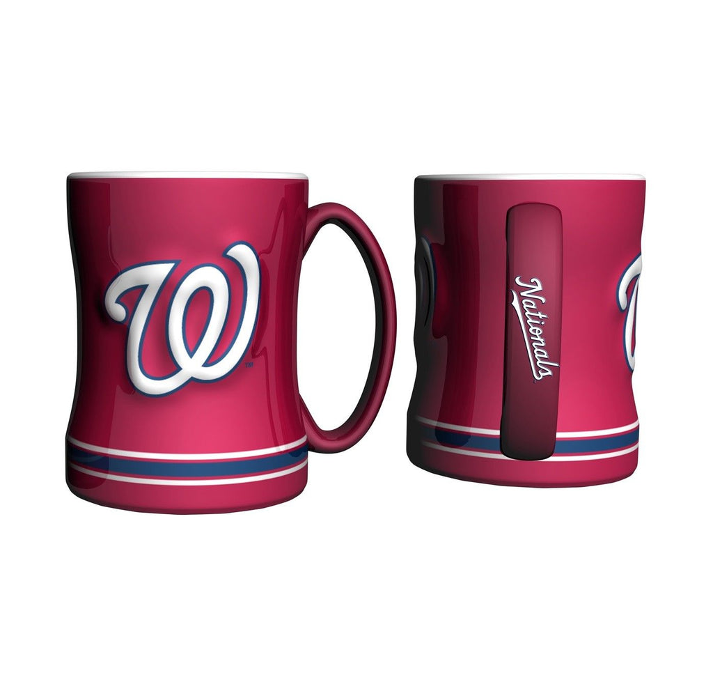 Boelter MLB Washington Nationals Sculpted Relief Mug Team Color 14oz