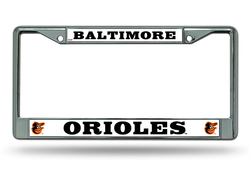 Rico MLB Baltimore Orioles Auto Tag Chrome Frame FC