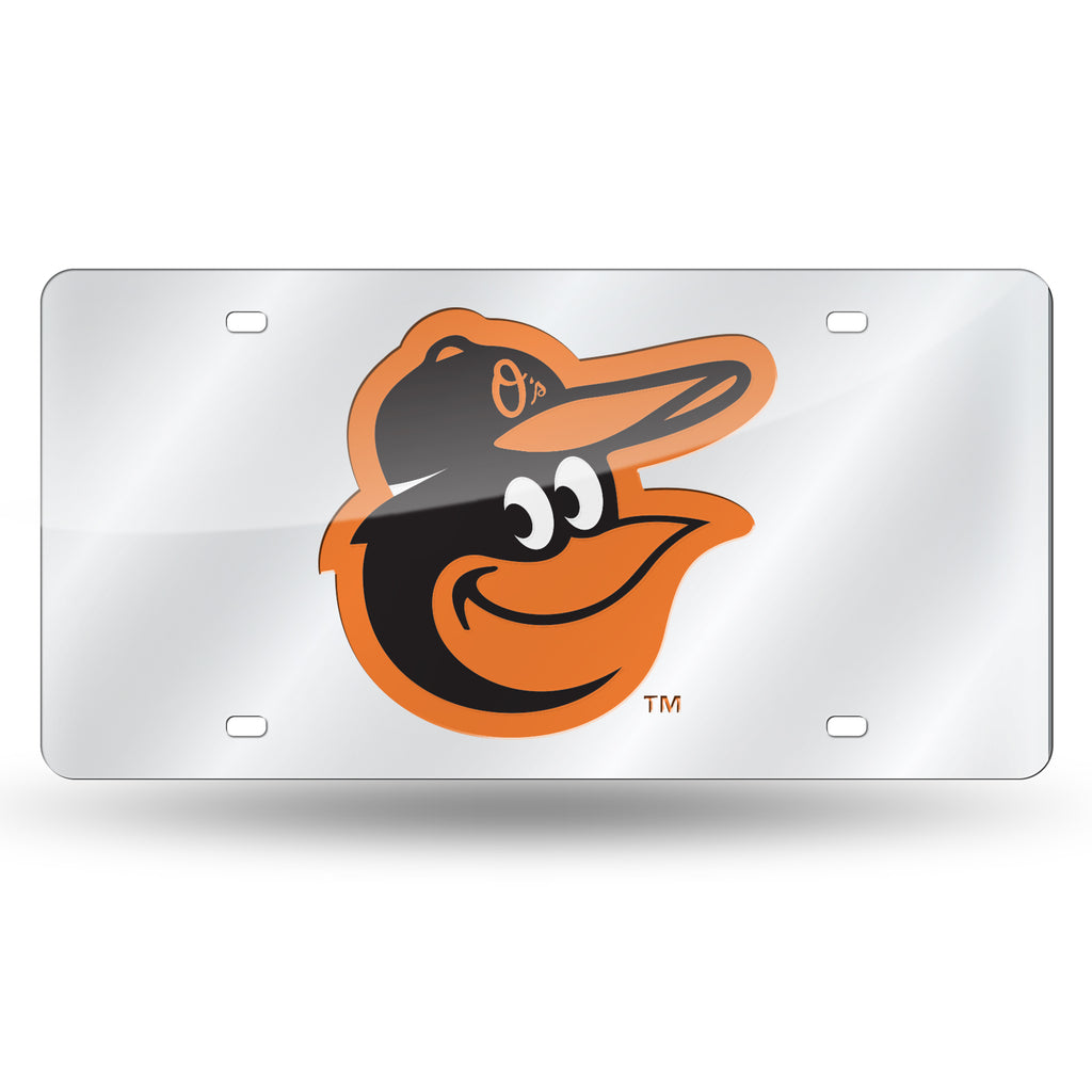 Rico MLB Baltimore Orioles Laser Cut Mirror Auto Tag Car License Plate LZS
