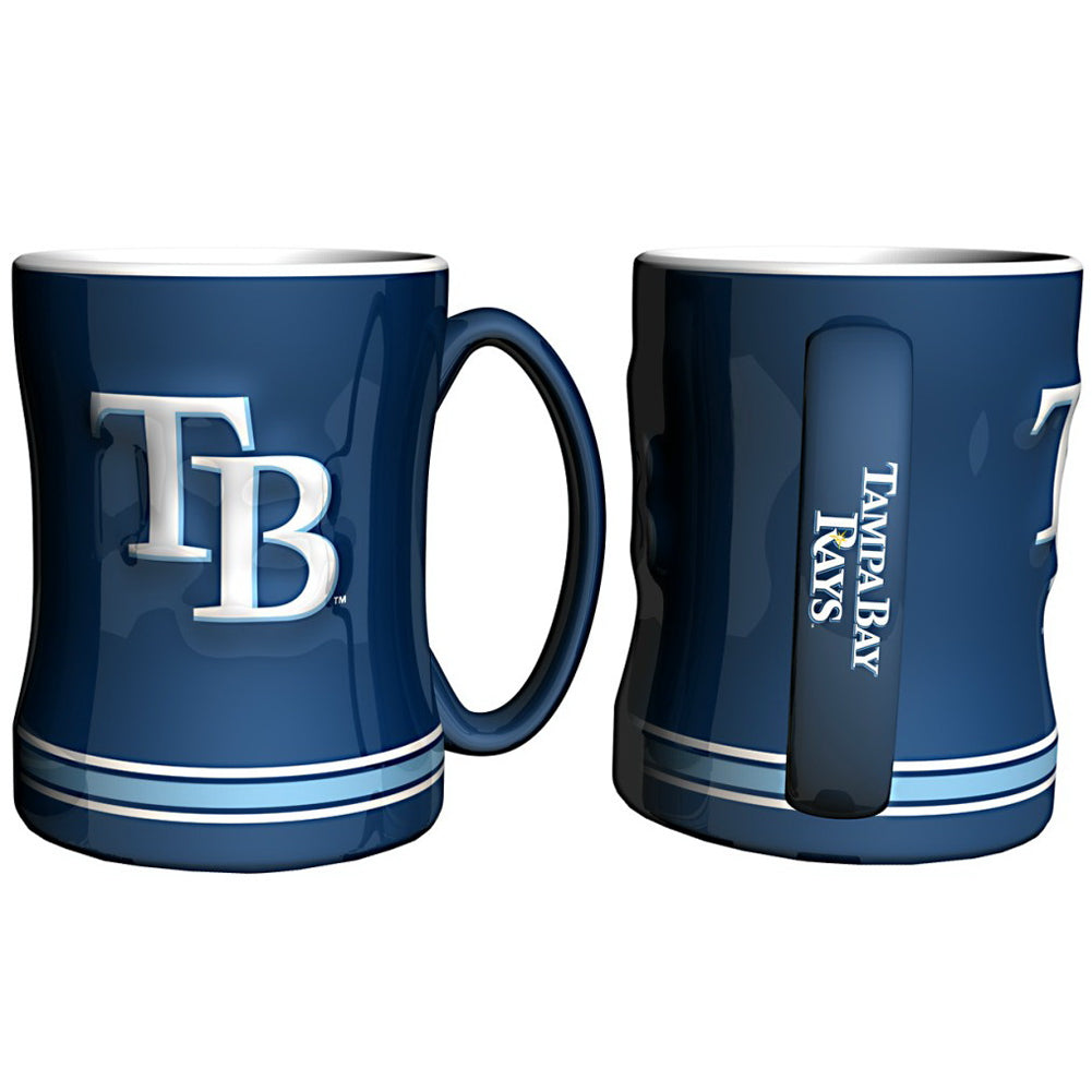 Boelter MLB Tampa Bay Rays Sculpted Relief Mug Team Color 14oz