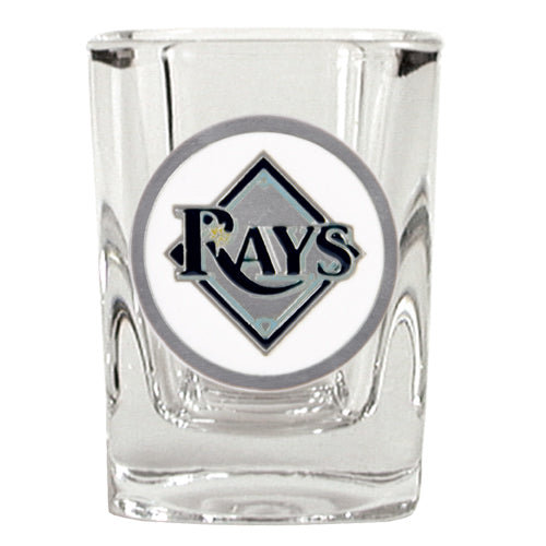 Great American Products MLB Tampa Bay Rays Metal Emblem Square Shot Glass 2oz