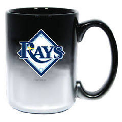 The Memory Company MLB Tampa Bay Rays Chrome Mug Black 15 oz