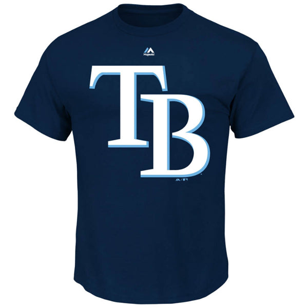 Majestic MLB Men's Tampa Bay Rays Official Logo T-Shirt