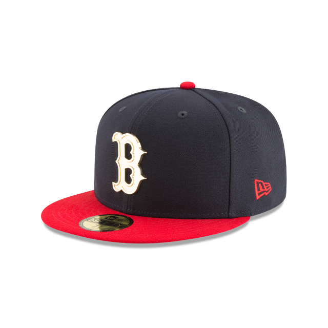 0bc785f4 New Era MLB Men's Boston Red Sox Golden Finish 59FIFTY Fitted Hat ...
