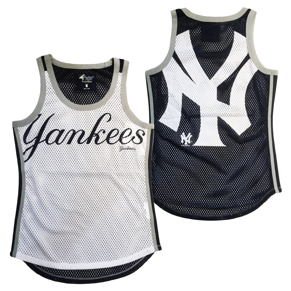 G-III MLB Women's New York Yankees Opening Day 2 Mesh Tank Top