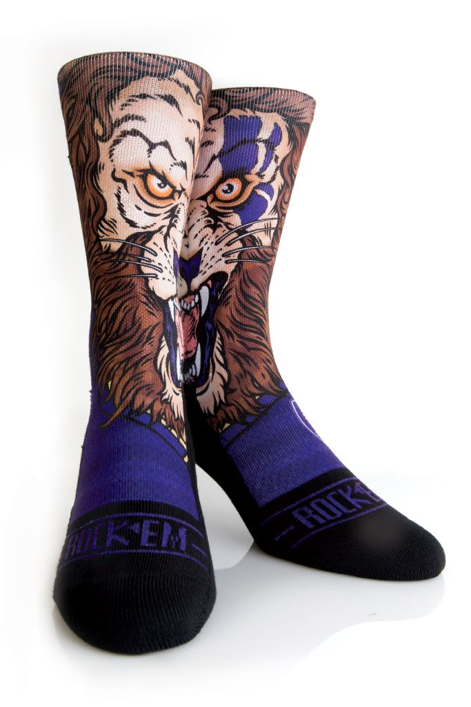 Rock Em MLS Orlando City Soccer Club Split Mascot Athletic Crew Sock