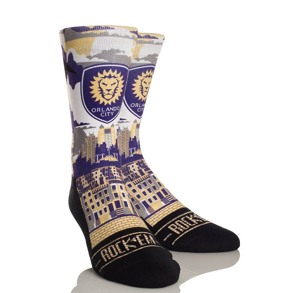 Rock Em MLS Orlando City Soccer Club City Skyline Athletic Crew Sock