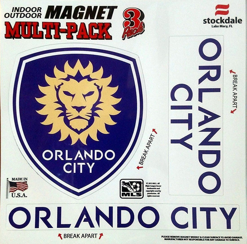 Stockdale MLS Orlando City Soccer Club Multi Pack Magnet 8""