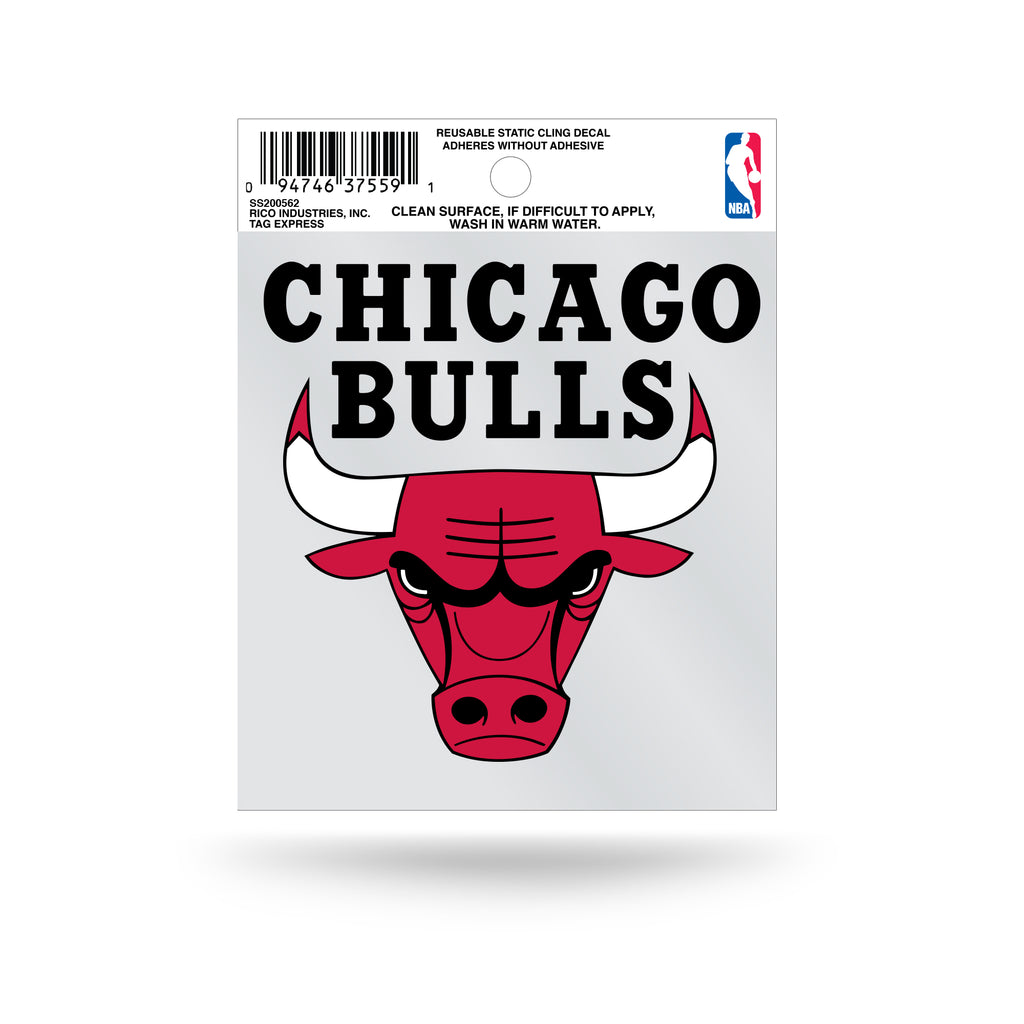 Rico NBA Chicago Bulls Logo Static Cling Auto Decal Car Sticker Small SS