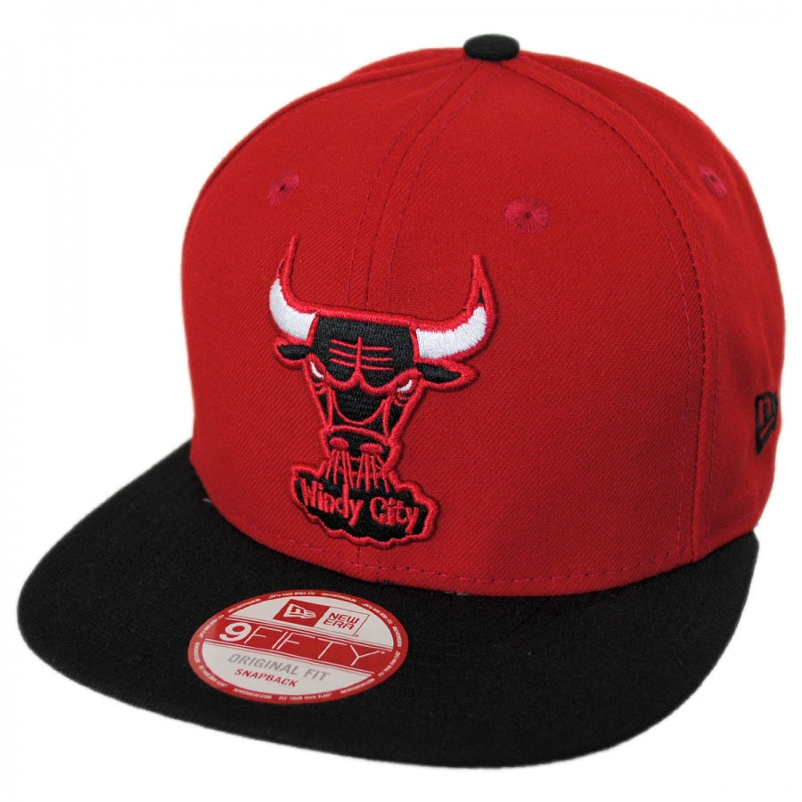 820280055d5 New Era NBA Men s Chicago Bulls 2Tone Hardwood Classics Basic 9FIFTY  Snapback Hat Adjustable
