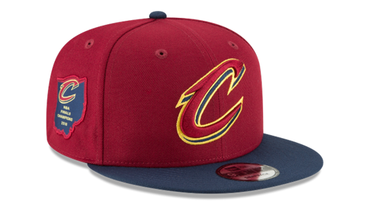 New Era NBA Men's Cleveland Cavaliers Side Stated 9FIFTY Adjustable Snapback Hat
