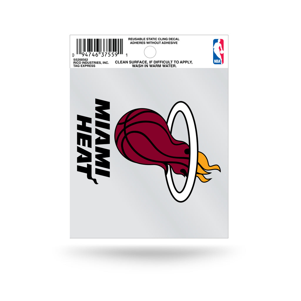 Rico NBA Miami Heat Logo Static Cling Auto Decal Car Sticker Small SS