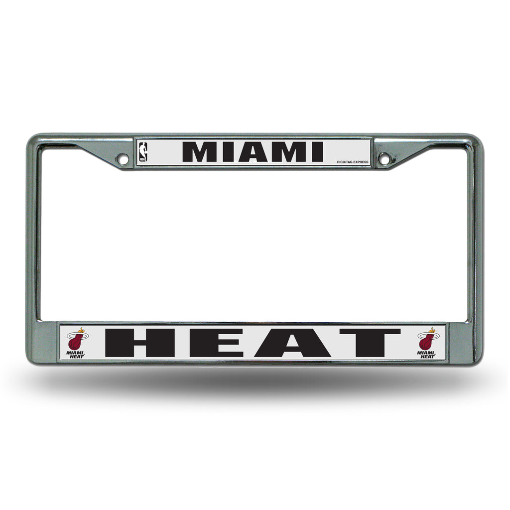 Rico NBA Miami Heat Auto Tag Chrome Frame FC
