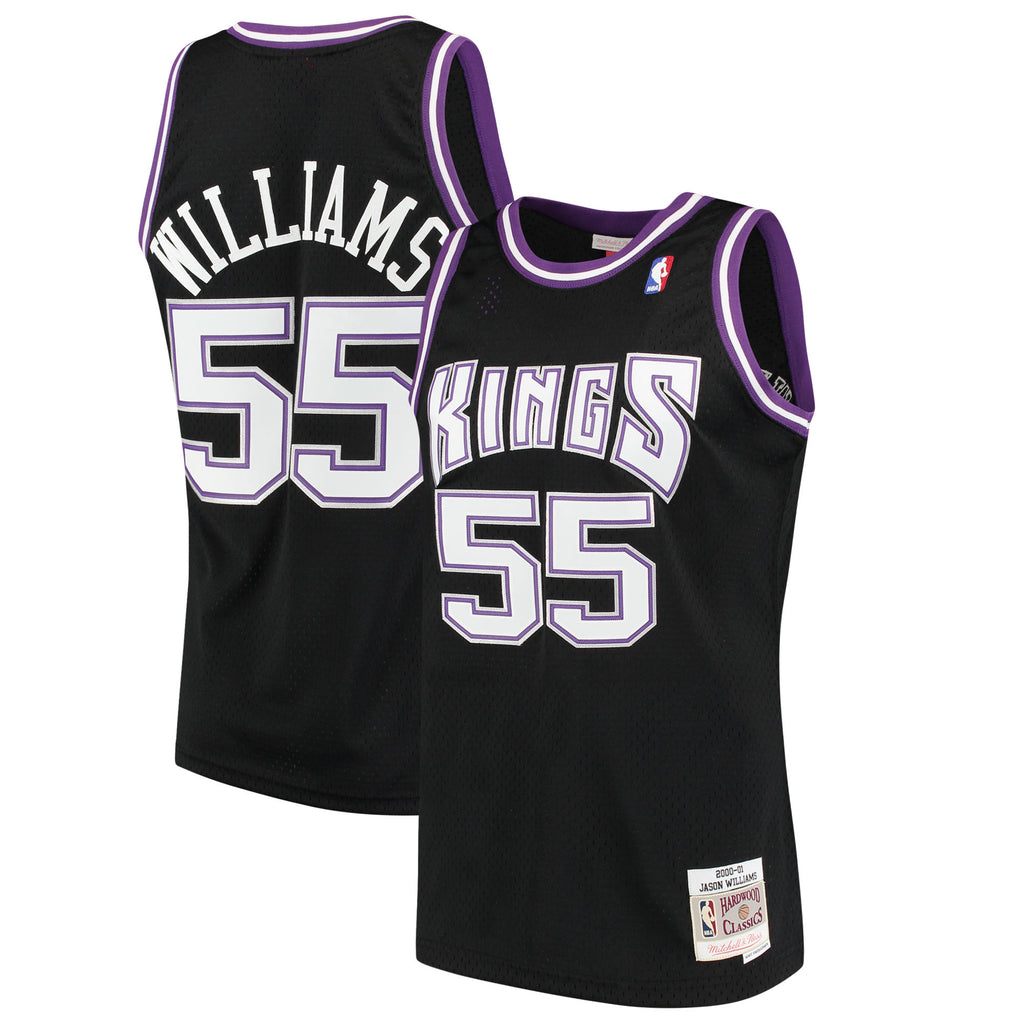 Mitchell & Ness NBA Men's #55 Jason Williams Sacramento Kings Hardwood Classic Swingman Jersey