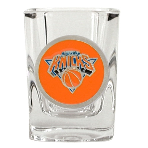 Great American Products NBA New York Knicks Metal Emblem Square Shot Glass 2oz