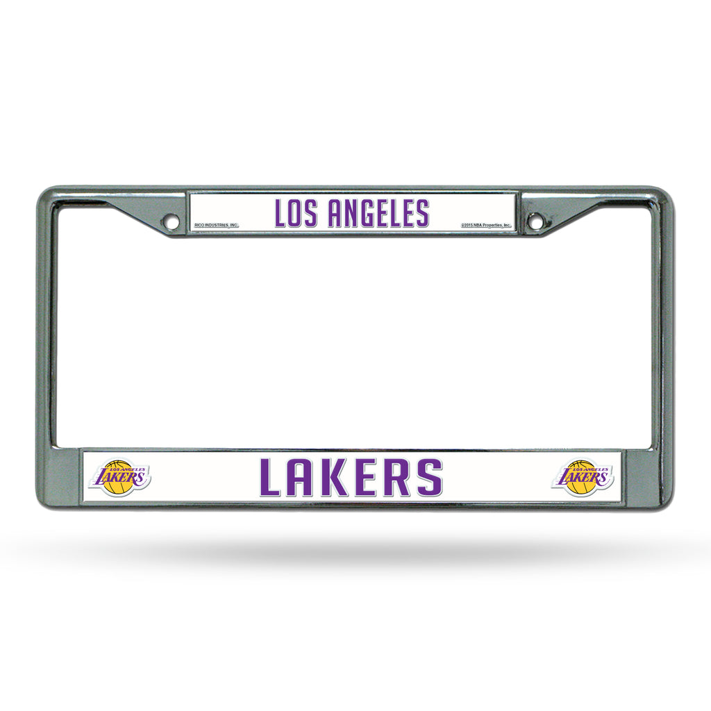 Rico NBA Los Angeles Lakers  Auto Tag Chrome Frame FC