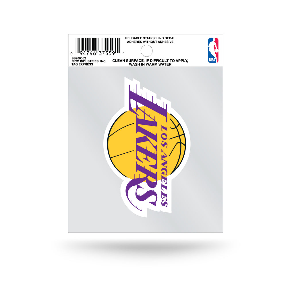 Rico NBA Los Angeles Lakers Logo Static Cling Auto Decal Car Sticker Small SS