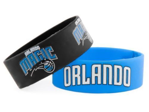 Aminco NBA Orlando Magic 2 Pack Wide Silicone Bracelets