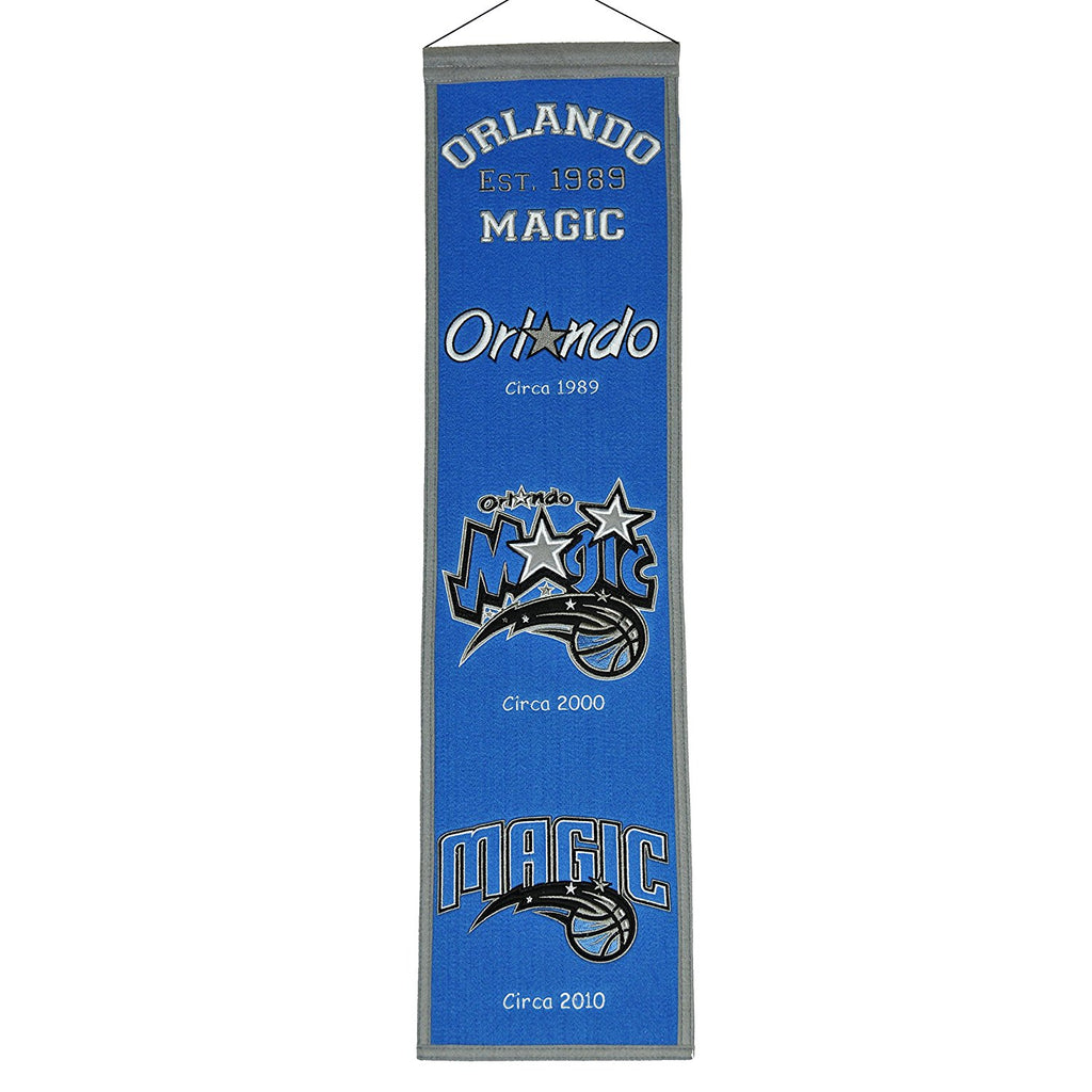 "Winning Streak NBA Orlando Magic Heritage Banner 8""x32"""