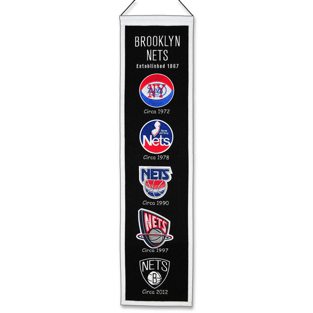 "Winning Streak NBA Brooklyn Nets Heritage Banner 8""x32"""