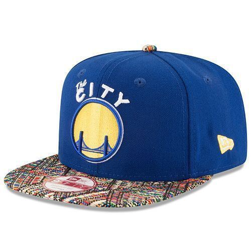New Era NBA Men's Golden State Warriors Tricked Trim 9FIFTY Adjustable Snapback Hat