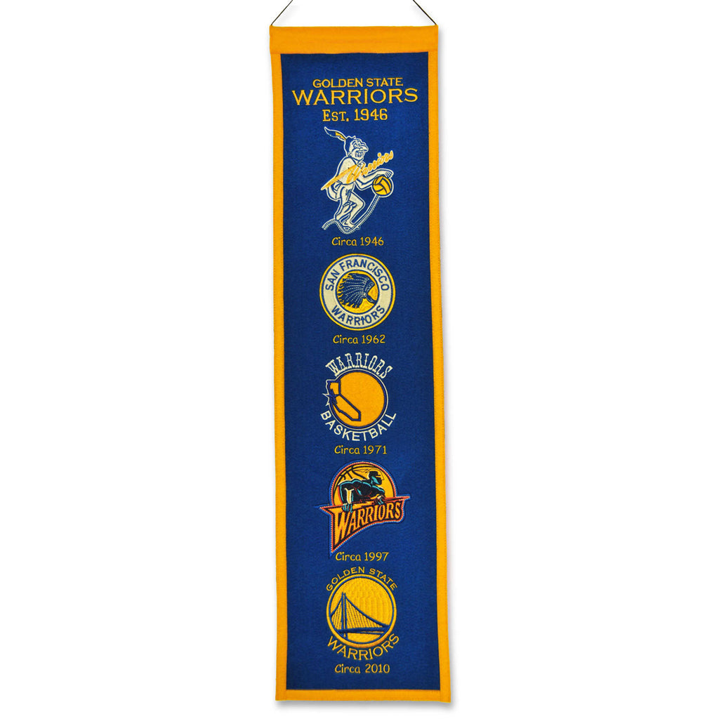 "Winning Streak NBA Golden State Warriors Heritage Banner 8""x32"""