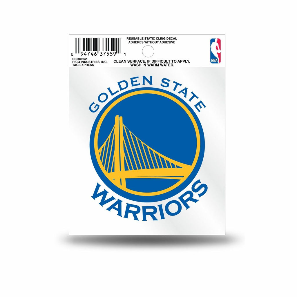 Rico NBA Golden State Warriors Logo Static Cling Auto Decal Car Sticker Small SS