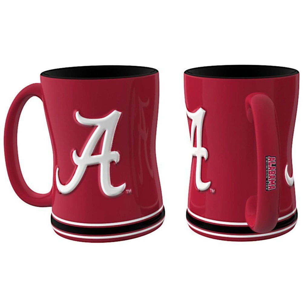 Boelter NCAA Alabama Crimson Tide Sculpted Relief Mug Team Color 14oz