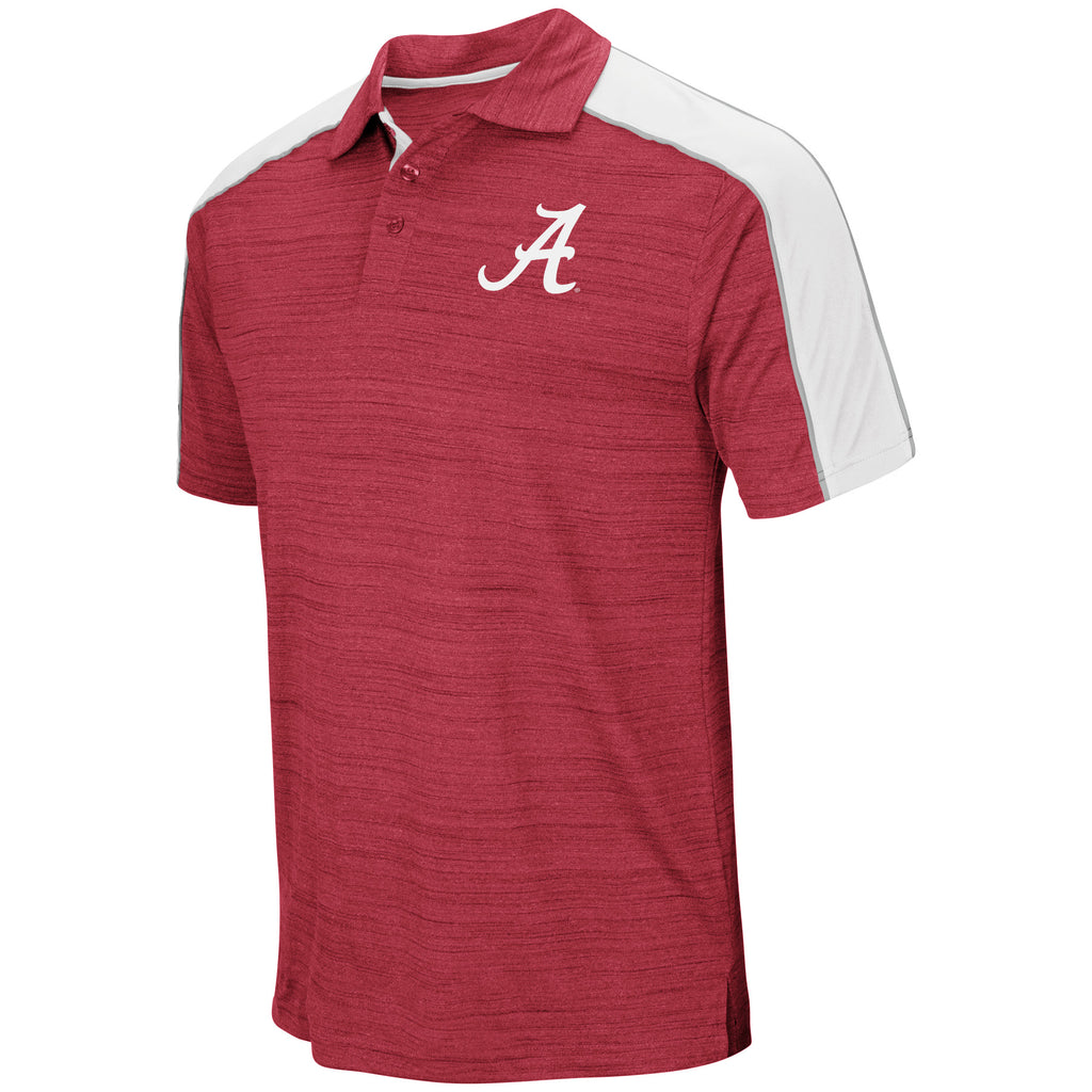 Colosseum NCAA Men's Alabama Crimson Tide Skip Polo Shirt