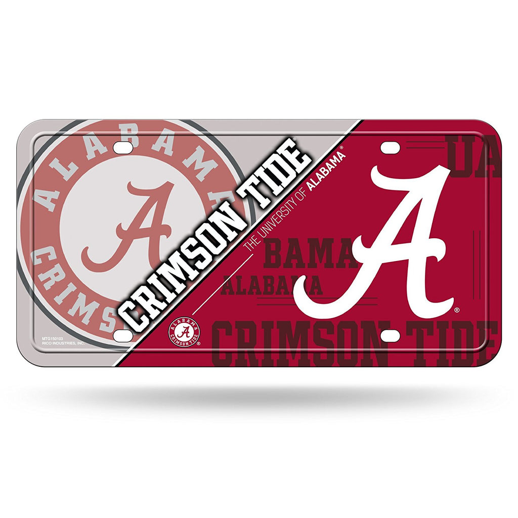 Rico NCAA Alabama Crimson Tide Auto Metal Tag Car License Plate MTG