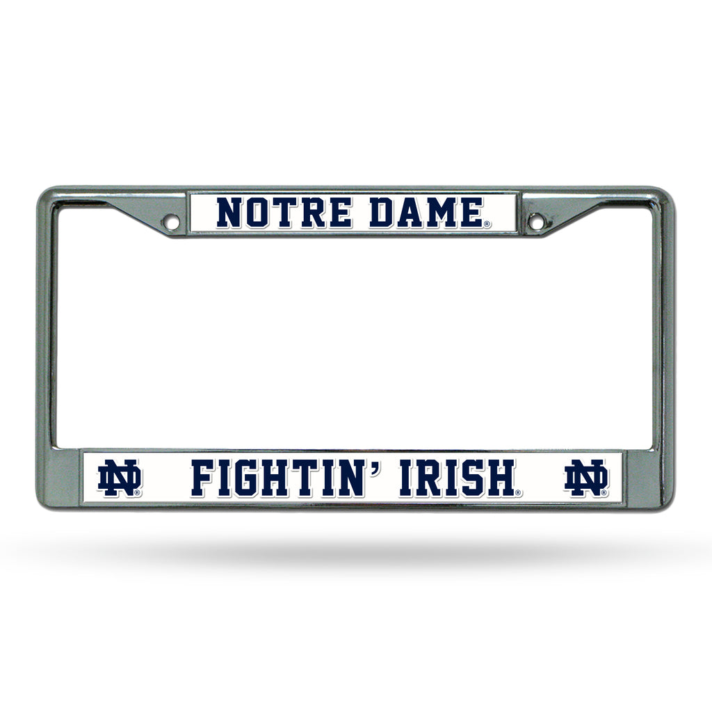 Rico NCAA Notre Dame Fighting Irish Auto Tag Chrome Frame FC