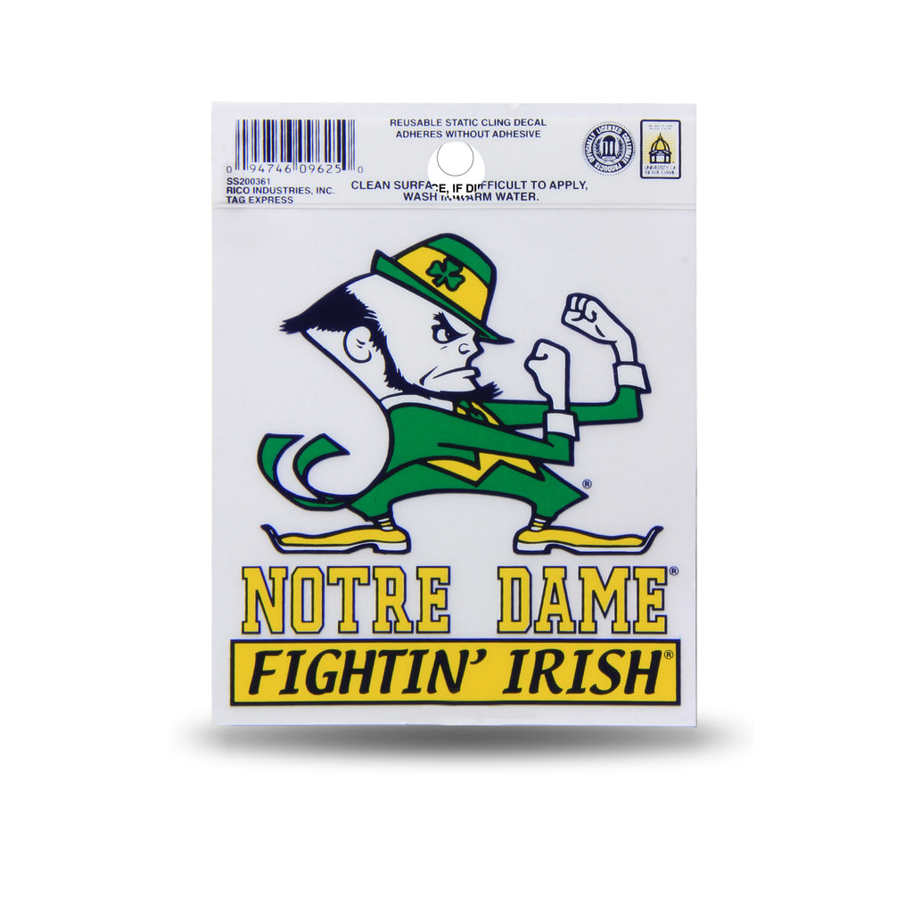 Rico NCAA Notre Dame Fighting Irish Logo Static Cling Auto Decal Car Sticker Small SS