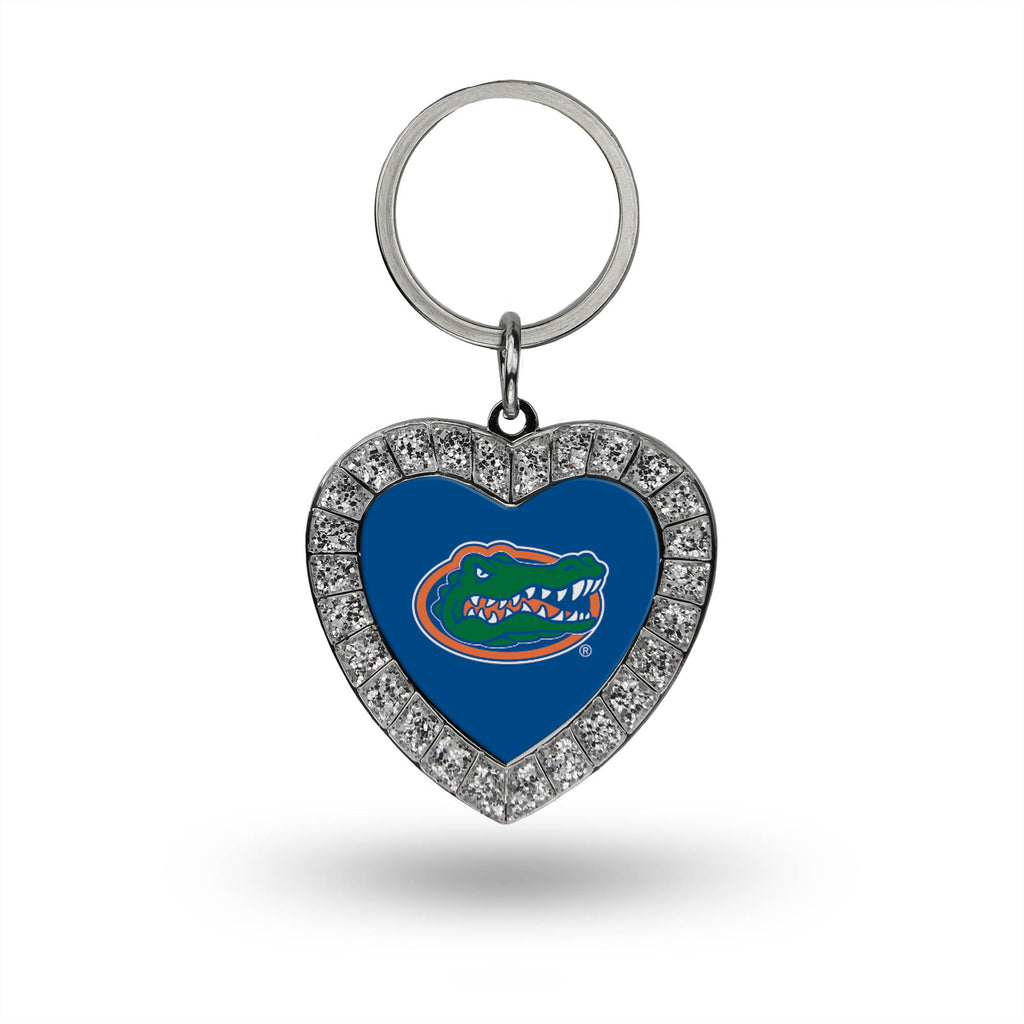 Rico NCAA Florida Gators Rhinestone Heart Key Chain