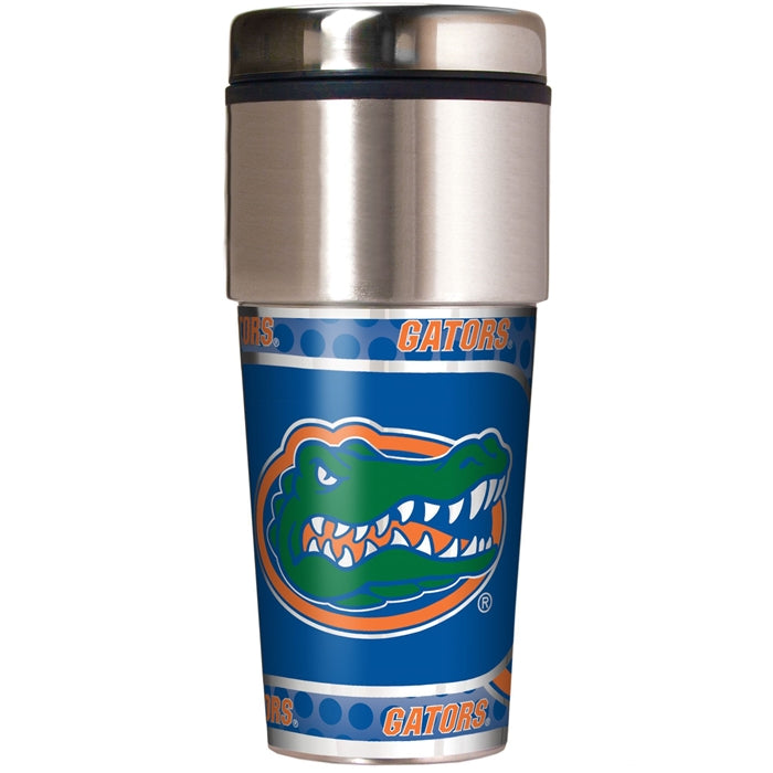 Great American Products NCAA Florida Gators UF Stainless Steel Travel Tumbler with Metallic Graphics 16 oz