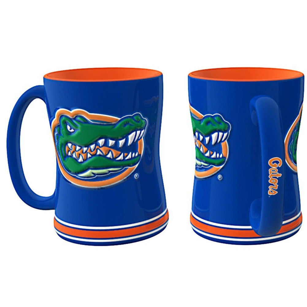 Boelter NCAA Florida Gators Sculpted Relief Mug Team Color 14oz