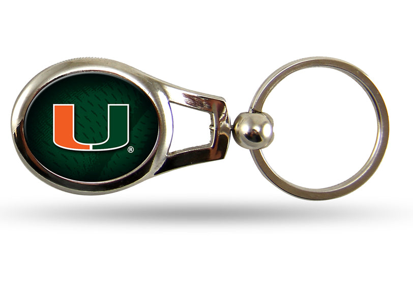Rico NCAA University of Miami Hurricanes Oval Key Chain