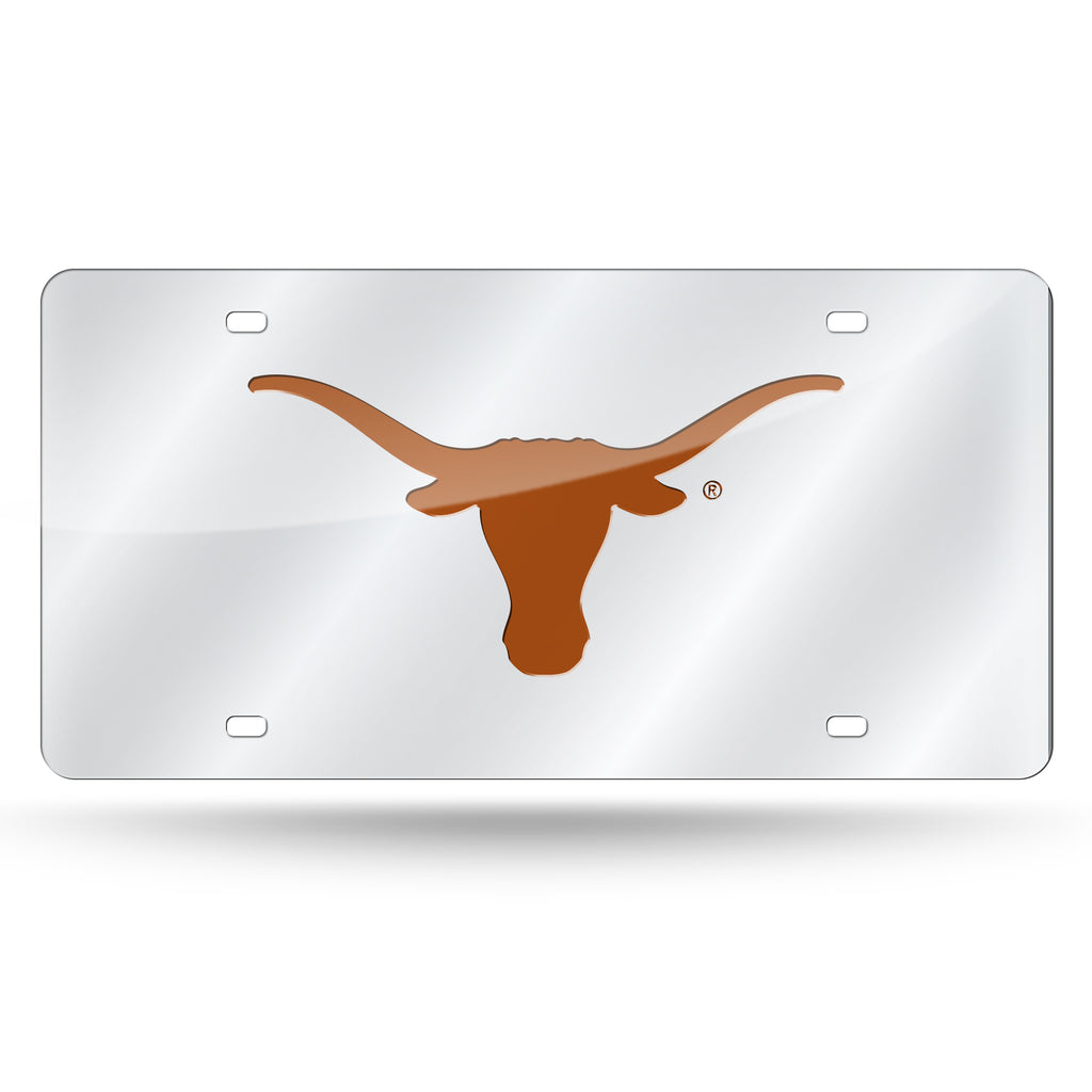 Rico NCAA Texas Longhorns Laser Cut Mirror Auto Tag Car License Plate LZS