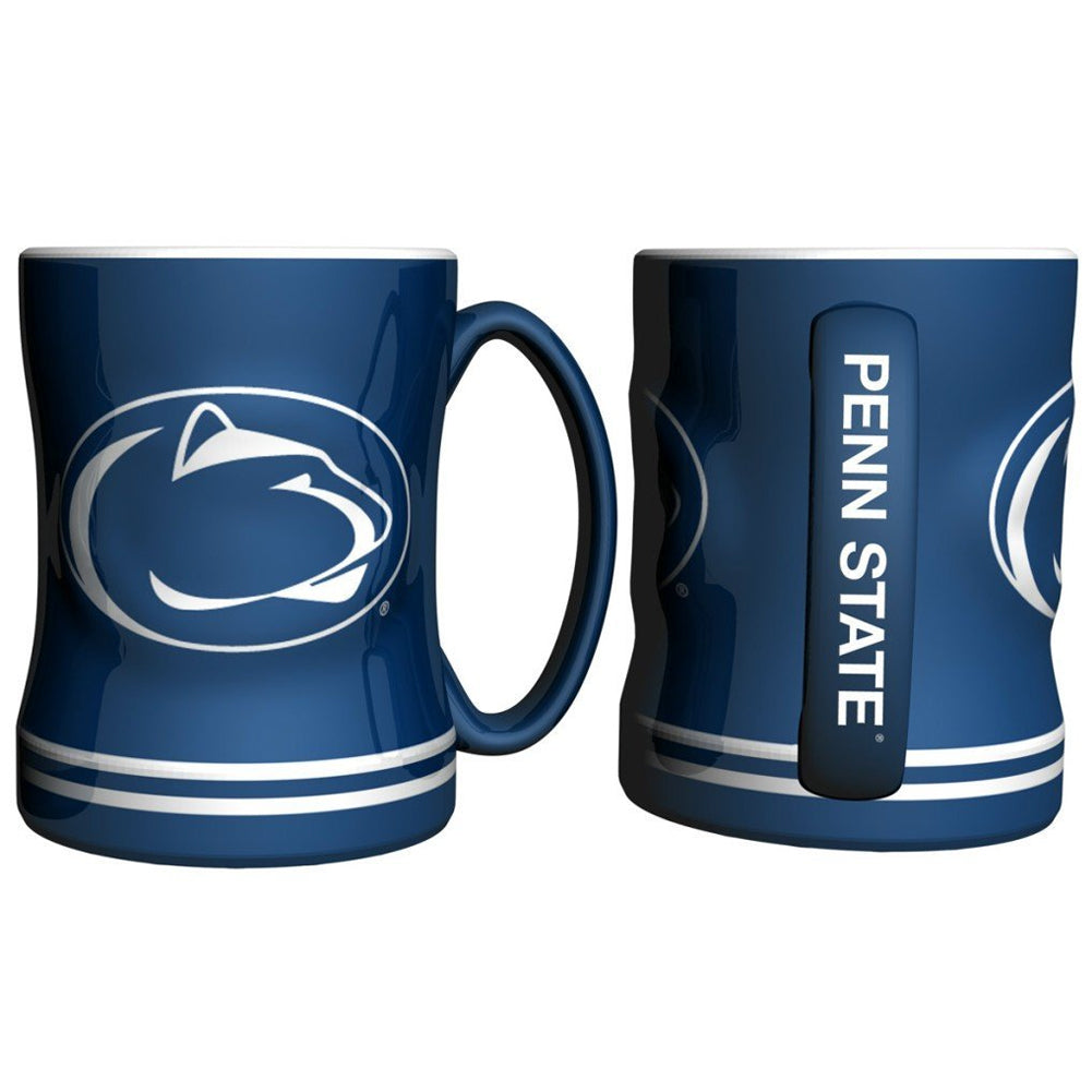 Boelter NCAA Penn State Nittany Lions Sculpted Relief Mug Team Color 14oz