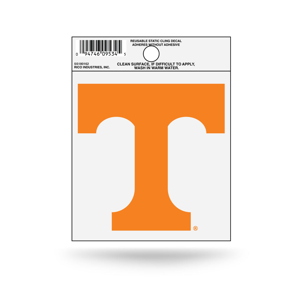 Rico NCAA Tennessee Volunteers Logo Static Cling Auto Decal Car Sticker Small SS