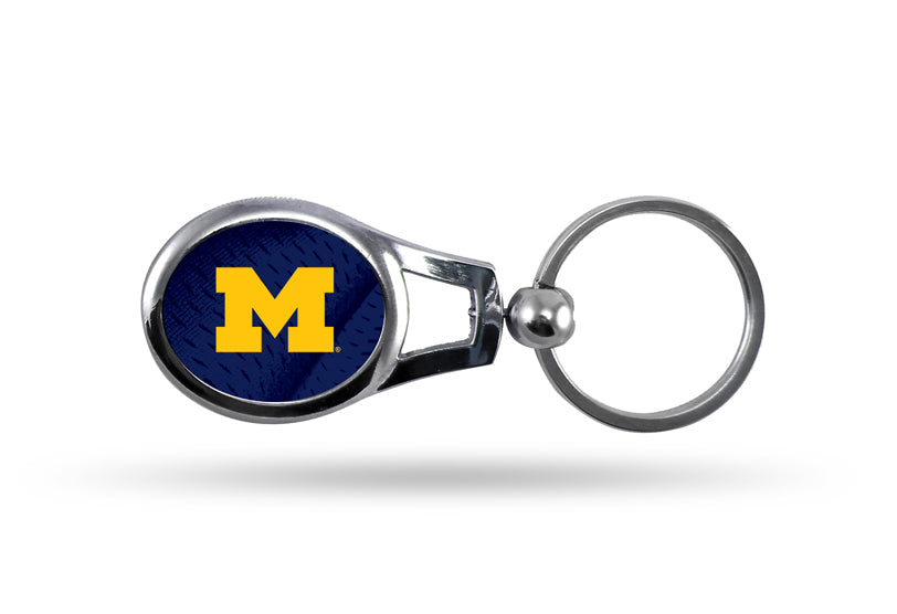 Rico NCAA Michigan Wolverines Oval Key Chain
