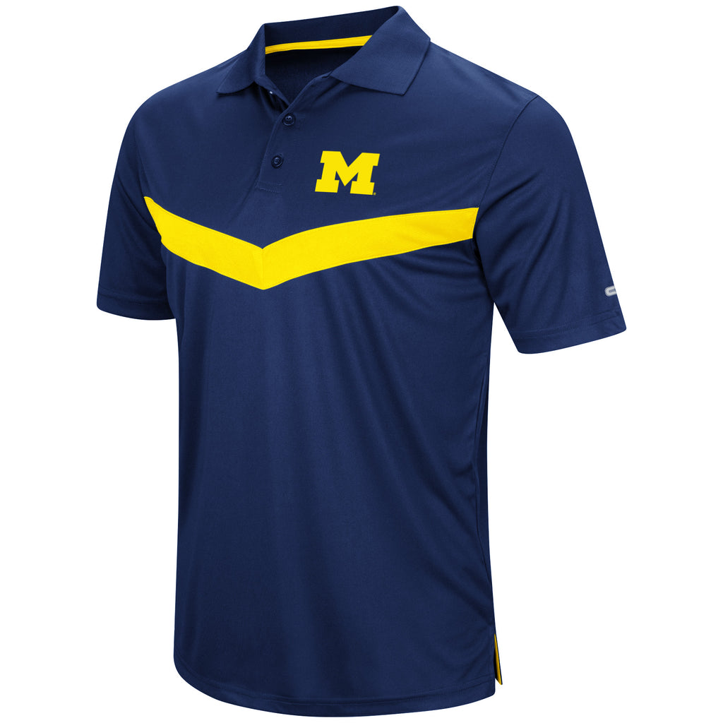 Colosseum NCAA Men's Michigan Wolverines Fastball Polo T-Shirt
