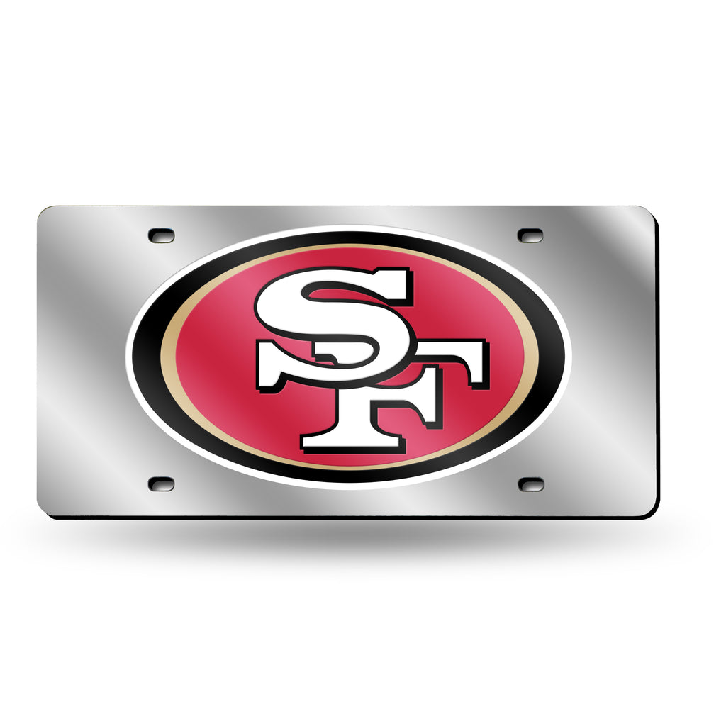 Rico NFL San Francisco 49ers Laser Cut Mirror Auto Tag Car License Plate LZS