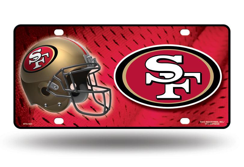 Rico NFL San Francisco 49ers Auto Metal Tag Car License Plate MTG