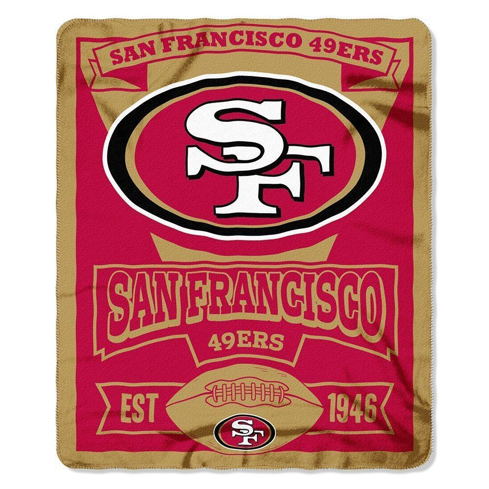 The Northwest Company NFL San Francisco 49ers Marque Printed Fleece Throw