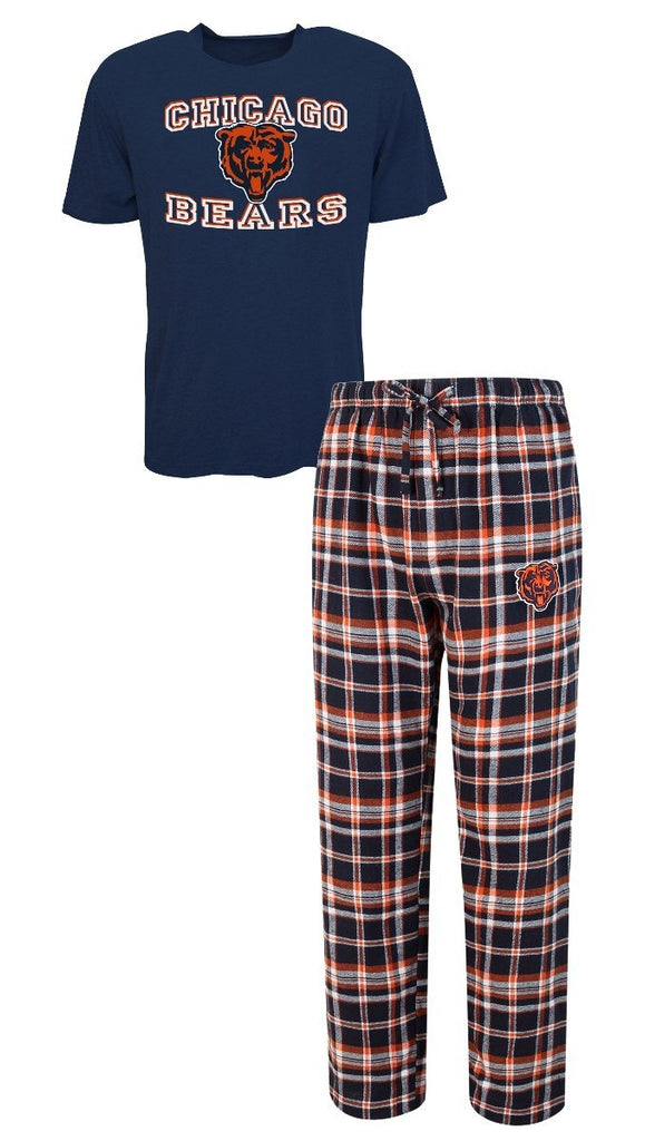Concepts Sport NFL Men's Chicago Bears Tiebreaker Pajamas Shirt & Pants Sleepwear Set