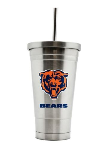 Duck House NFL Chicago Bears Stainless Steel Straw Tumbler 17 oz