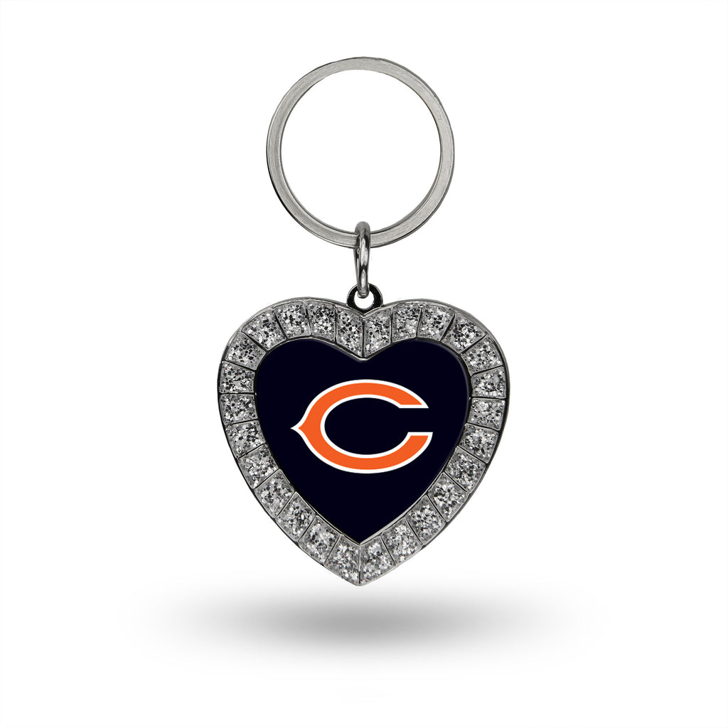 Rico NFL Chicago Bears Rhinestone Heart Key Chain